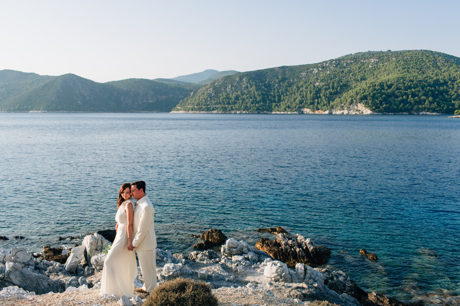 Cape Amarantos Skopelos wedding photos