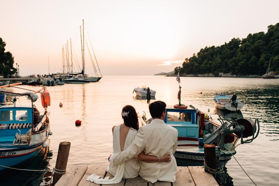 Agnontas bay wedding photos