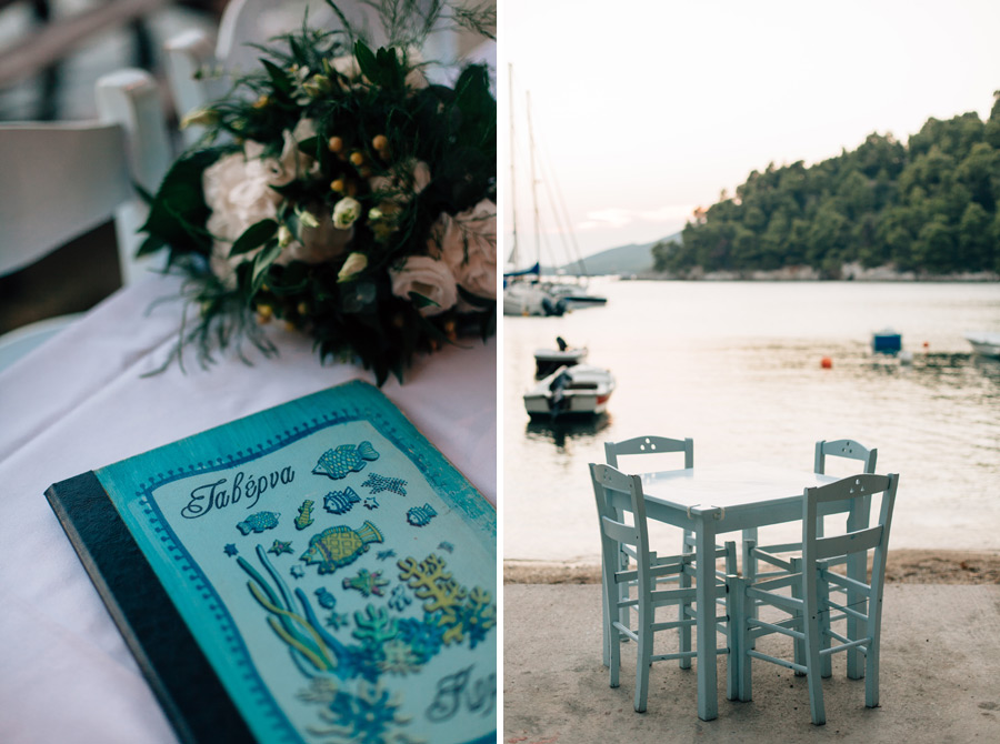Skopelos best seaside setting taverna