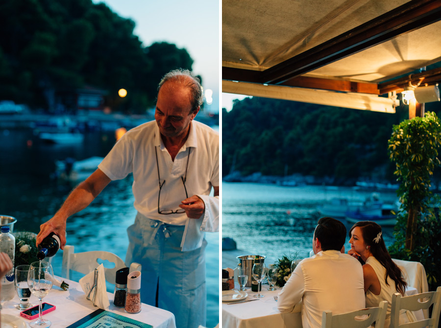 Korali restaurant wedding dinner