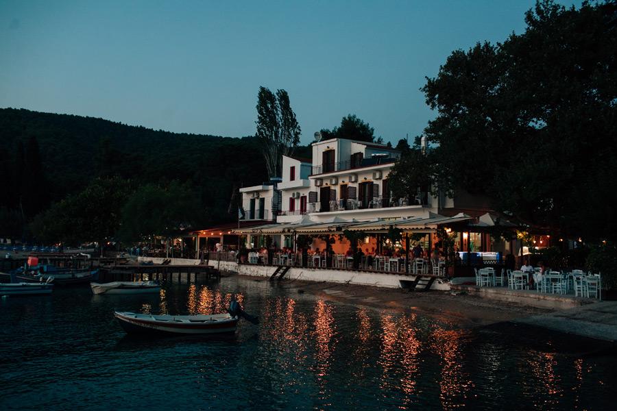 Skopelos wedding reception Korali taverna Agnontas