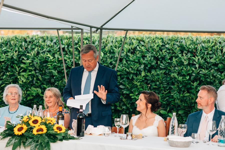 Sovana wedding reception