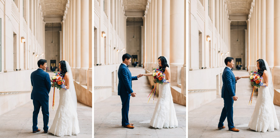 first look locations downtown Toronto wedding