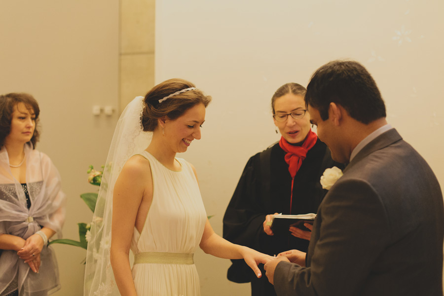 Toronto city hall wedding ceremony