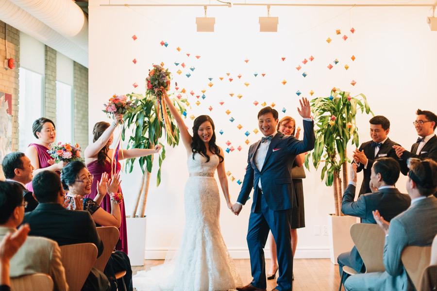 wedding ceremony at the spoke club