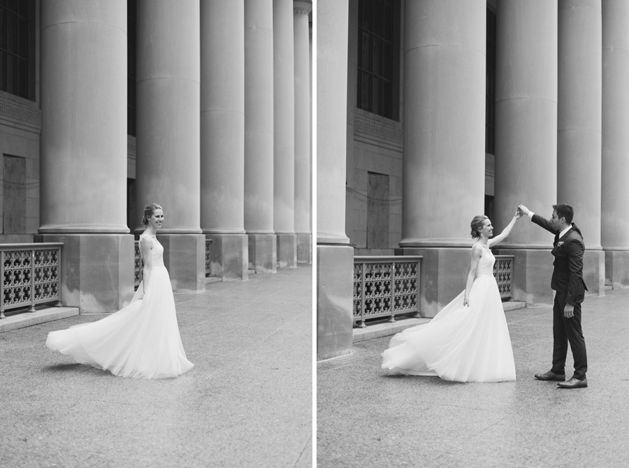 Toronto wedding photo location with great architecture