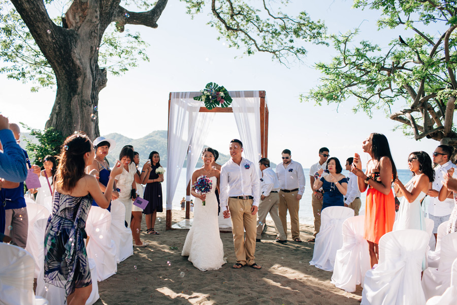 beach wedding costa rica guanacaste