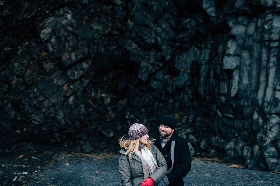 Reynisfjara engagement session Iceland