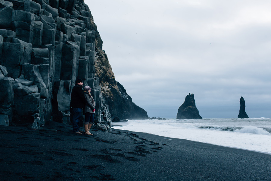 Reynisfjara Iceland engagement photos
