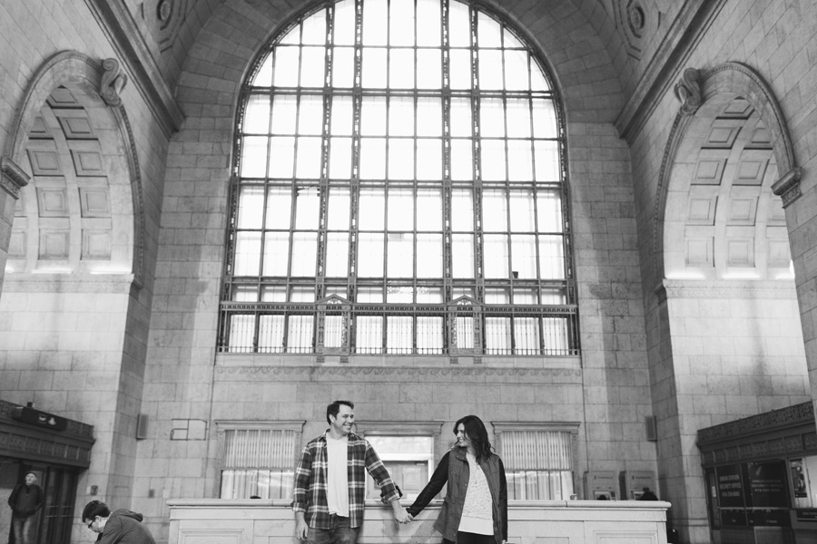 Toronto union station engagement photos