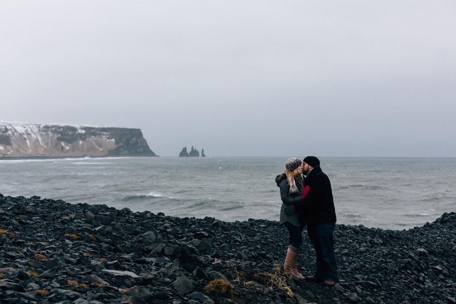Iceland dyrholaey engagement