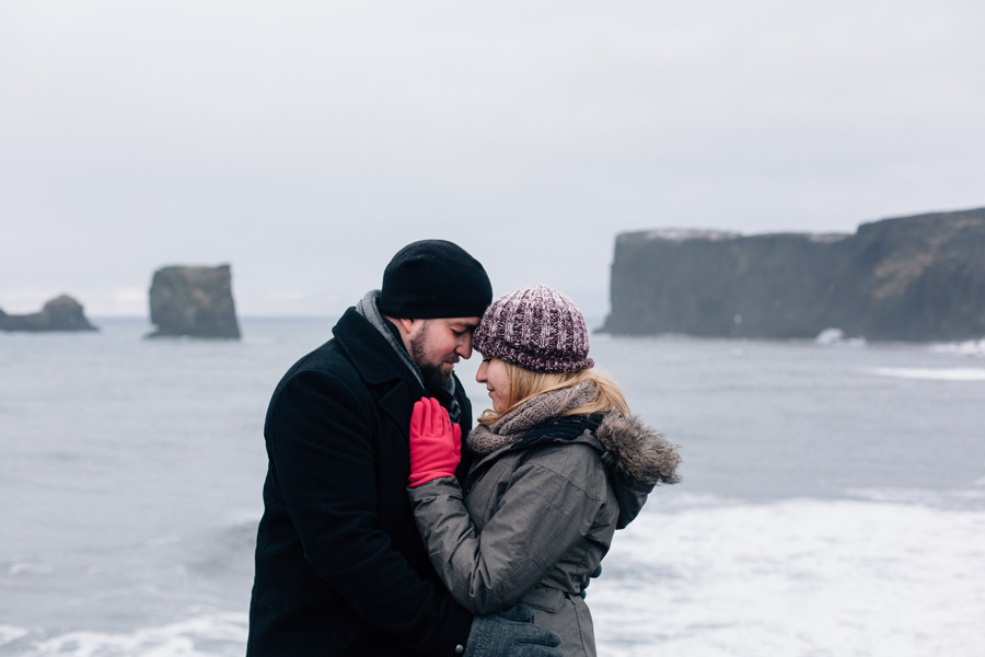 dyrholaey Iceland engagement photos