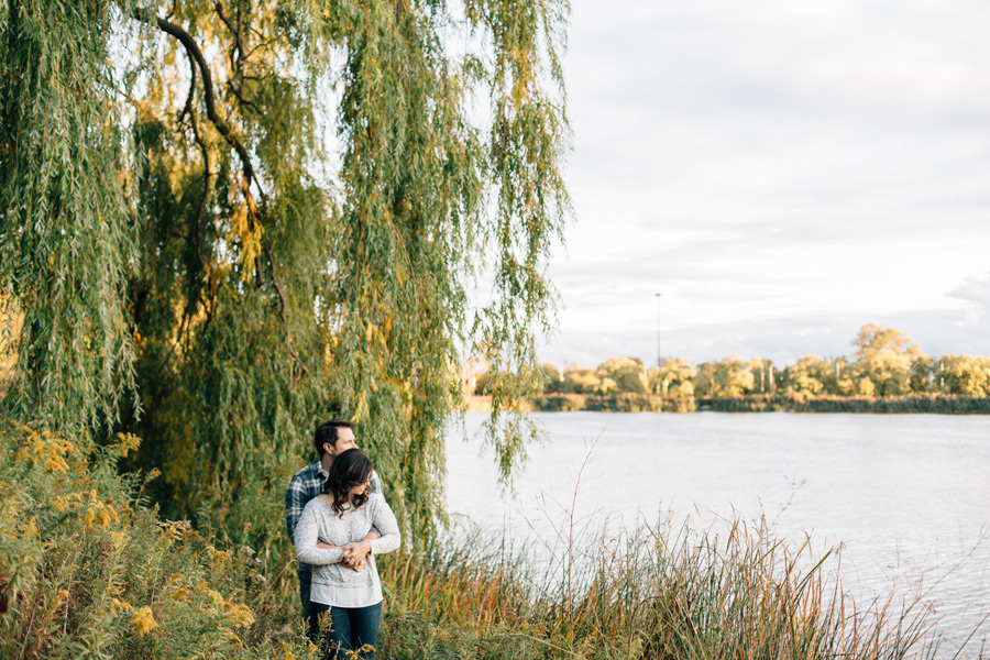 Fall engagement pictures in High Park