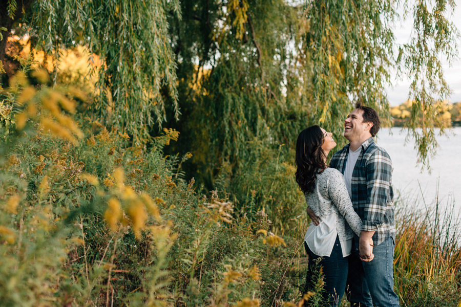 Genuine and fun engagement photos