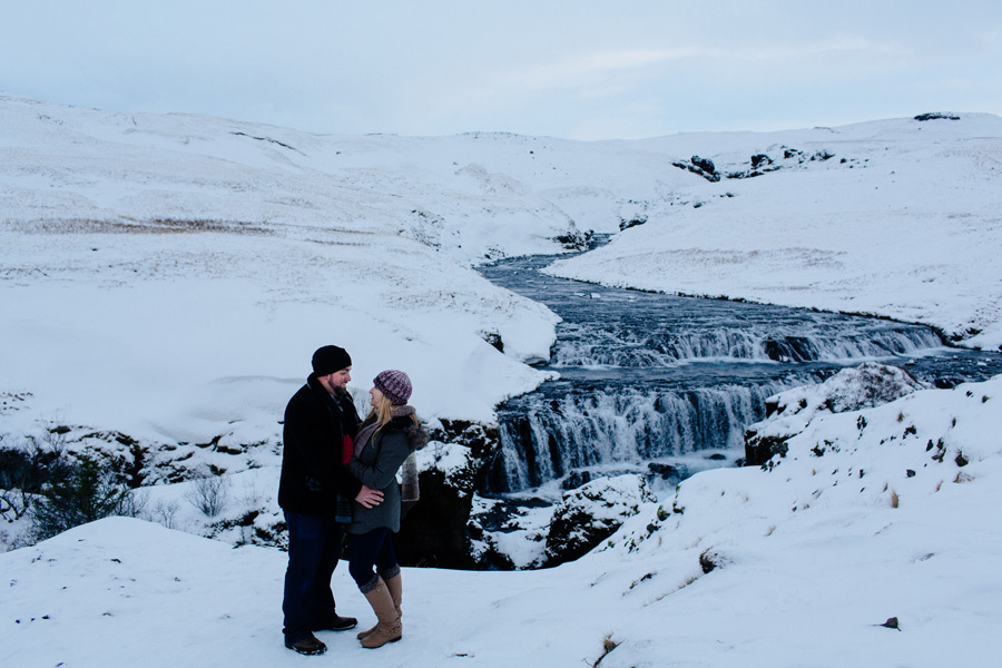 winter engagement photos Iceland