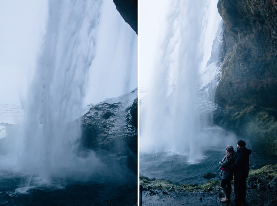 Seljalandsfoss Iceland engagement pictures