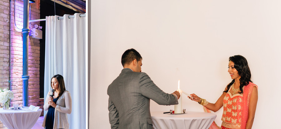 wedding ceremony at 2nd floor events