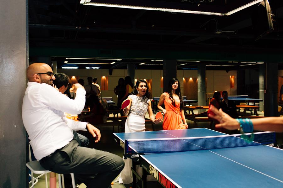 Spin ping pong social club wedding photos