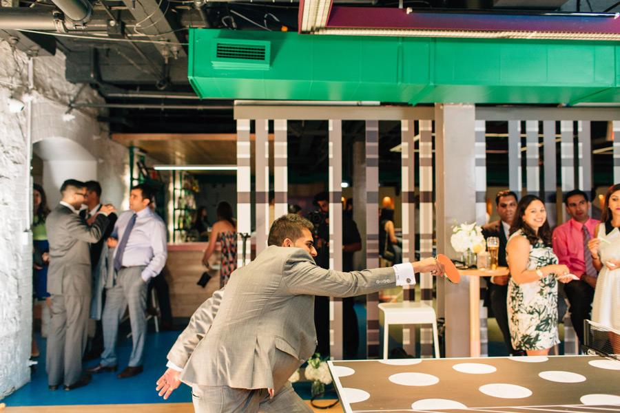 fun wedding ideas Toronto Spin ping pong