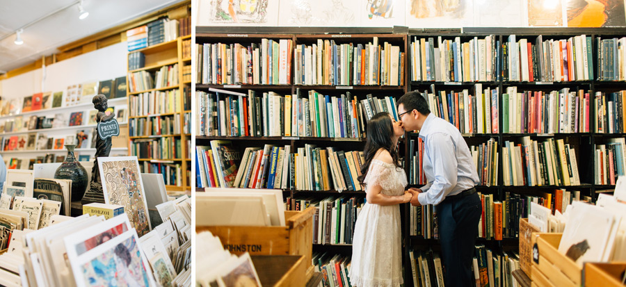 bookstore engagement pictures