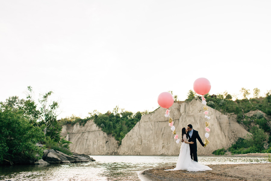 Scarborough bluffs pre wedding photos