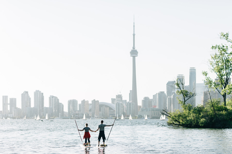 Adventurous Engagement Session Toronto Islands