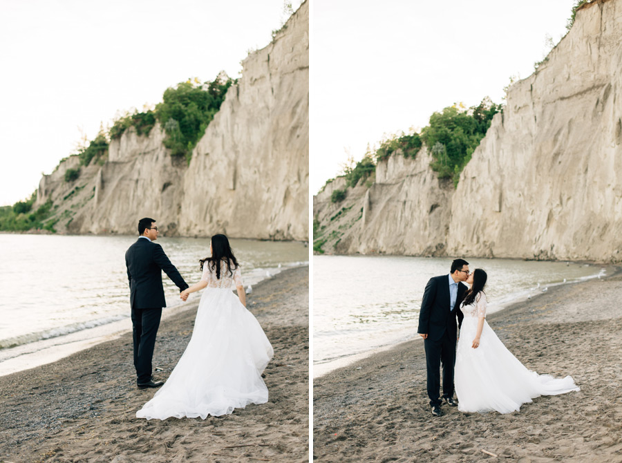 engagement pictures Scarborough bluffs park