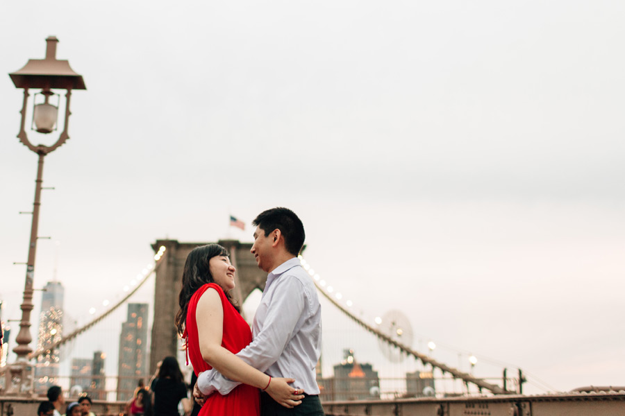 New York City Engagement session brooklyn bridge