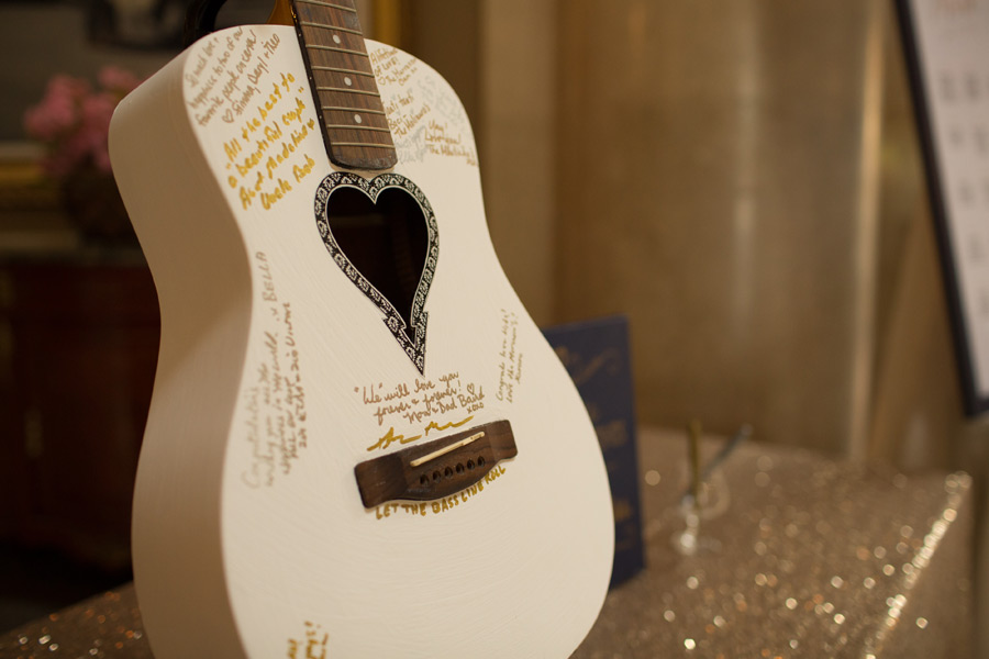 Guitar for wedding guestbook