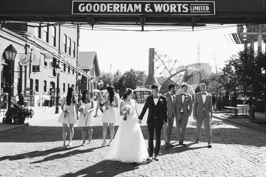 Distillery district wedding photos