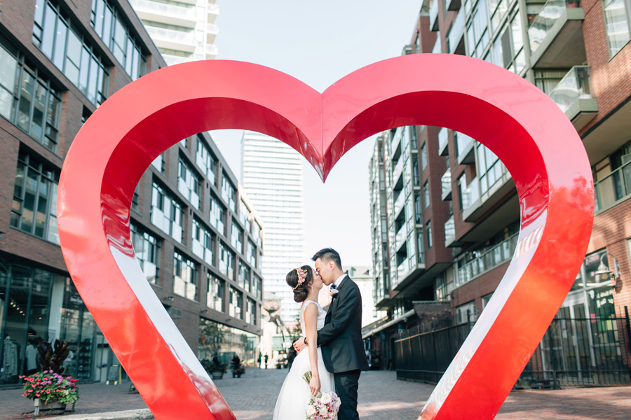Distillery district wedding pics