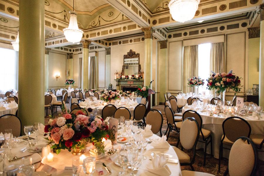 University Club of Toronto wedding reception