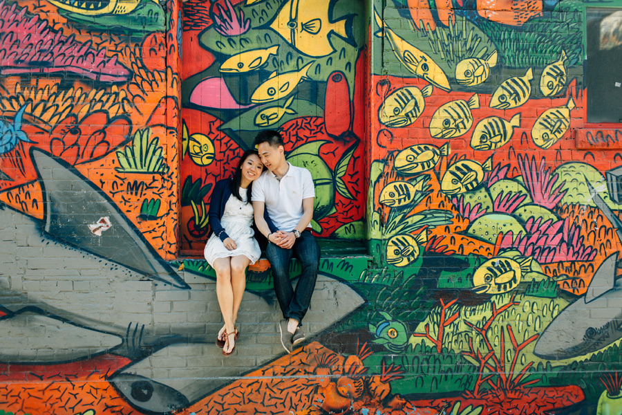 queen west graffiti alley engagement photos
