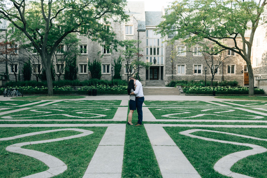engagement photo session at u of t