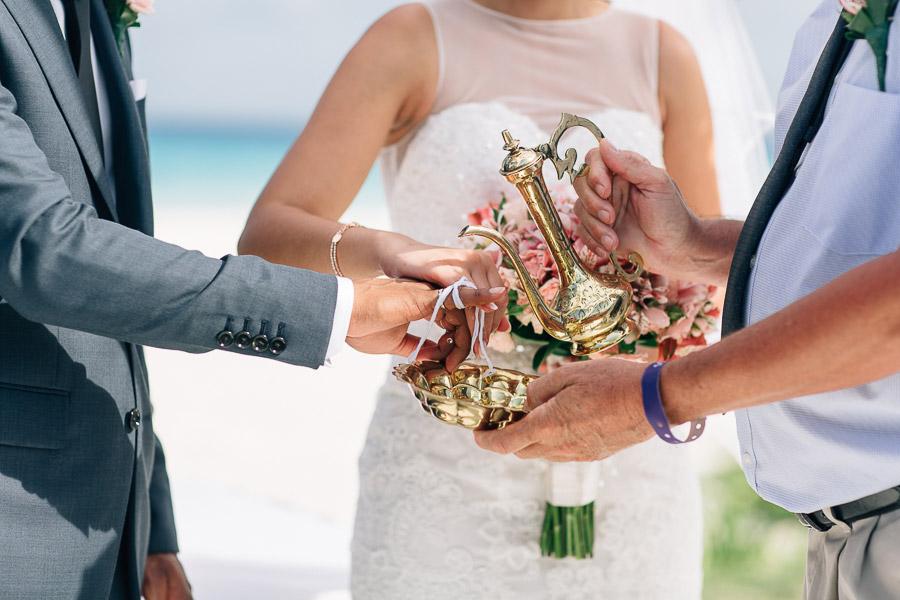 Sri Lankan beach wedding ceremony
