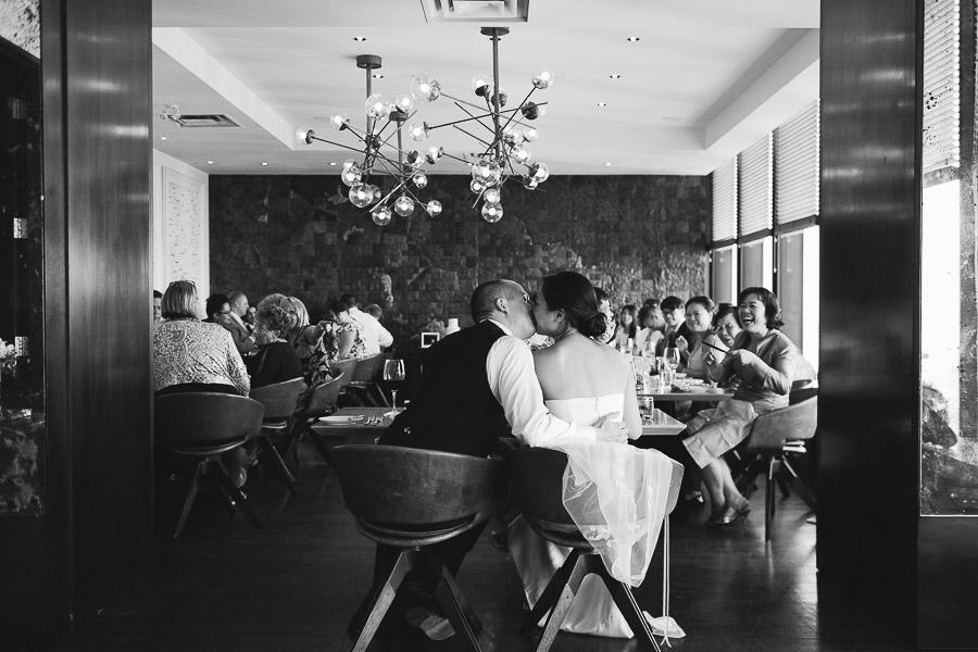 Canoe restaurant wedding reception