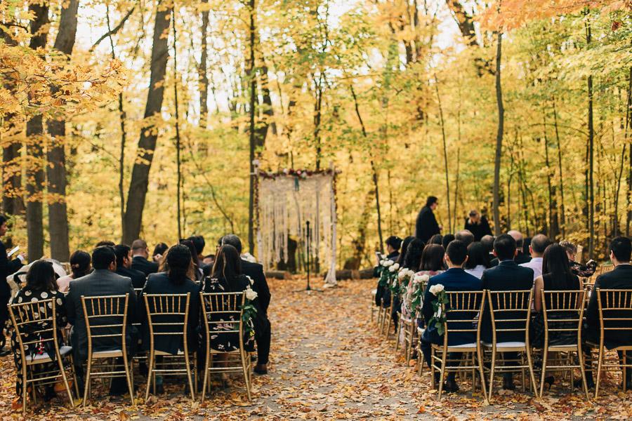 Kortright Centre wedding ceremony