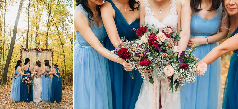 bridesmaids dresses fall inspiration