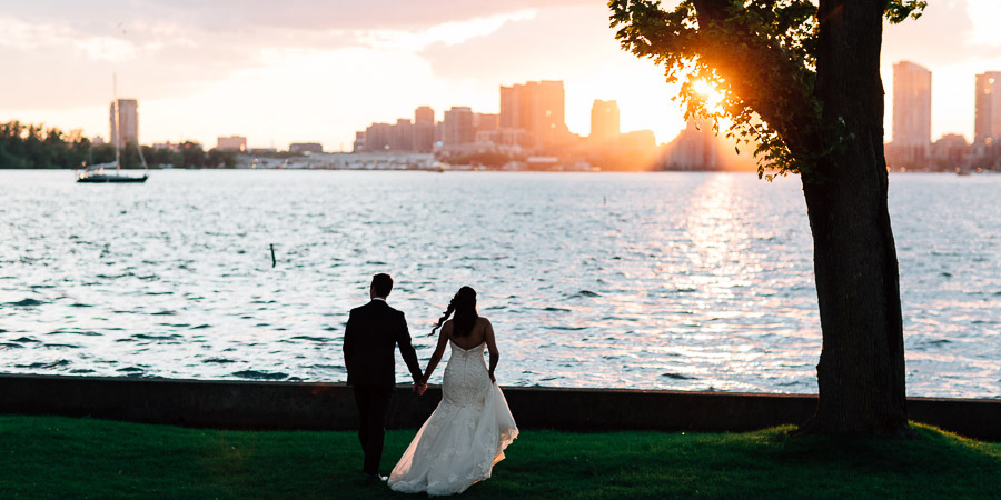 Toronto island wedding photos
