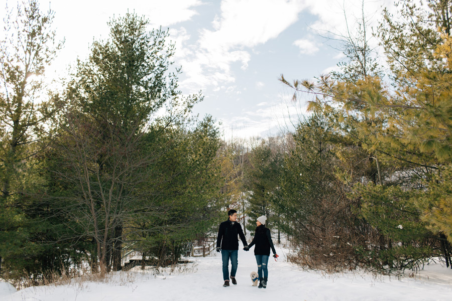 evergreen brickworks engagement session