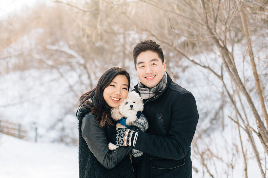 toronto winter engagement photos