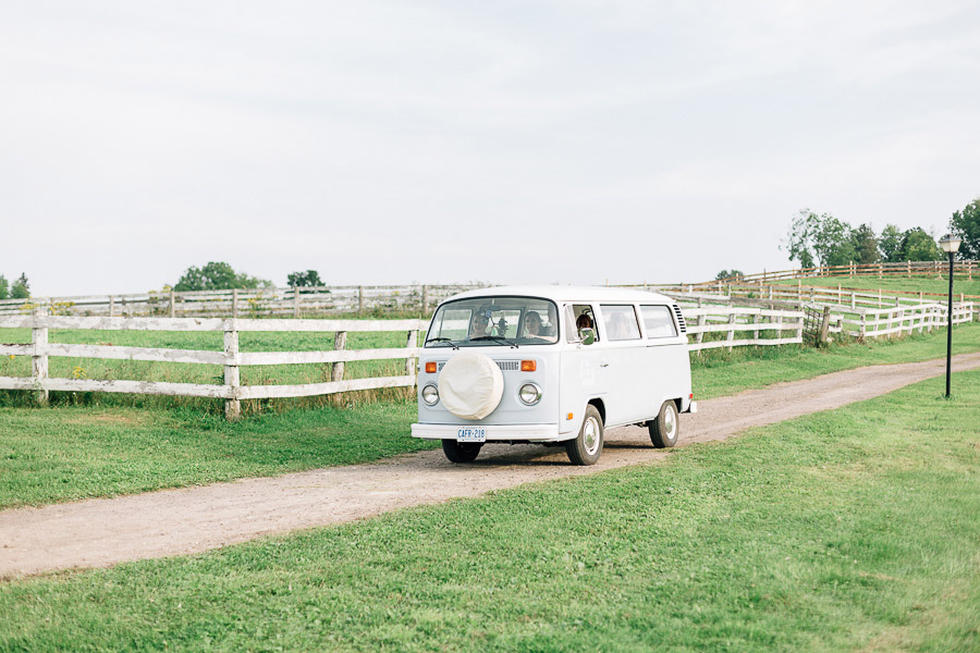 vintage VW camper for wedding